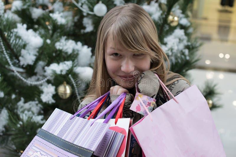 Glimlachend meisje met stock foto