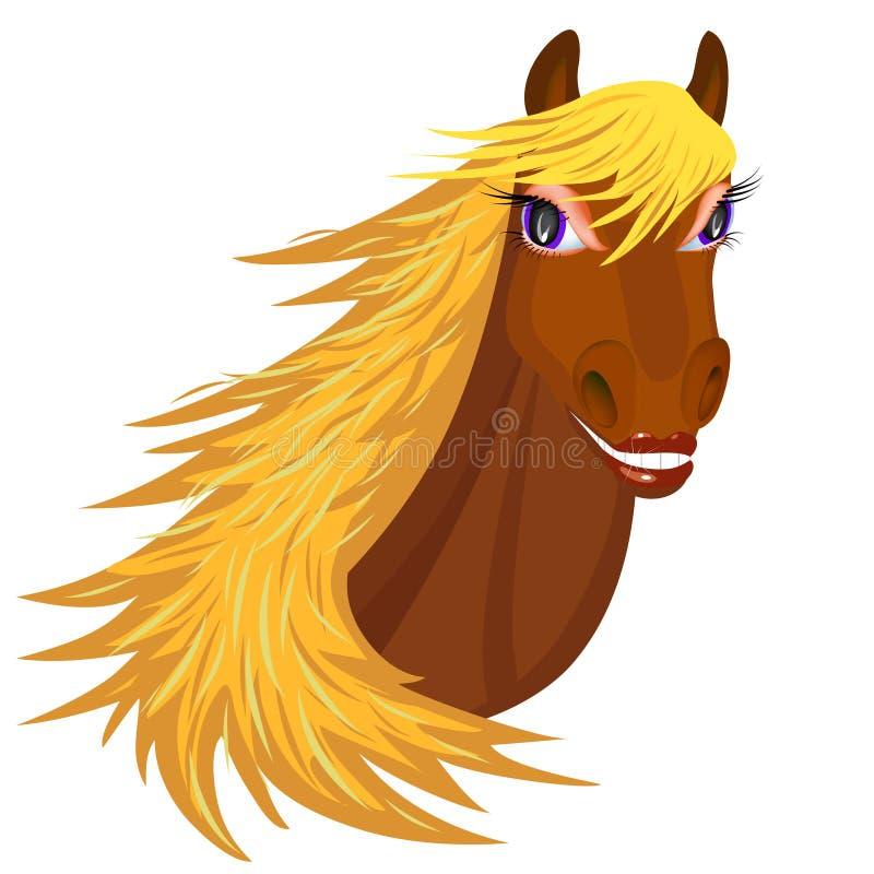 Glimlachend Paard vector illustratie