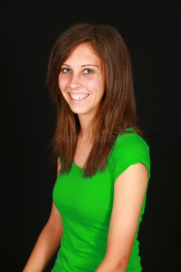Glimlachend tienermeisje royalty-vrije stock afbeeldingen