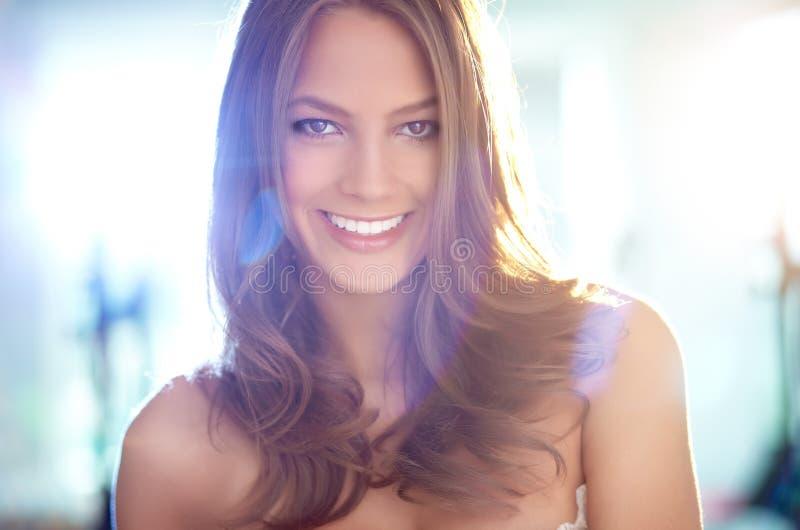 Glimlachend wijfje royalty-vrije stock foto