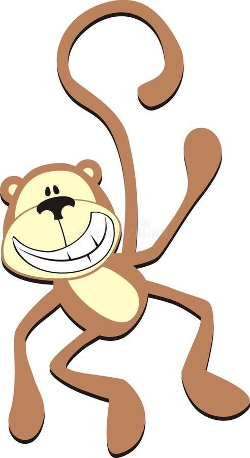 Glimlachende aap vector illustratie