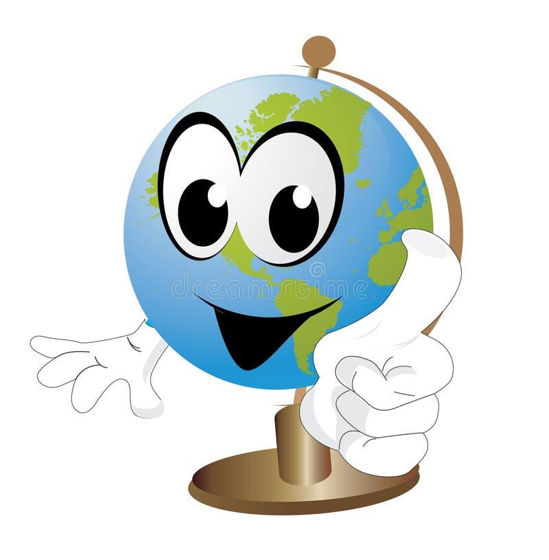 Glimlachende Aarde royalty-vrije illustratie