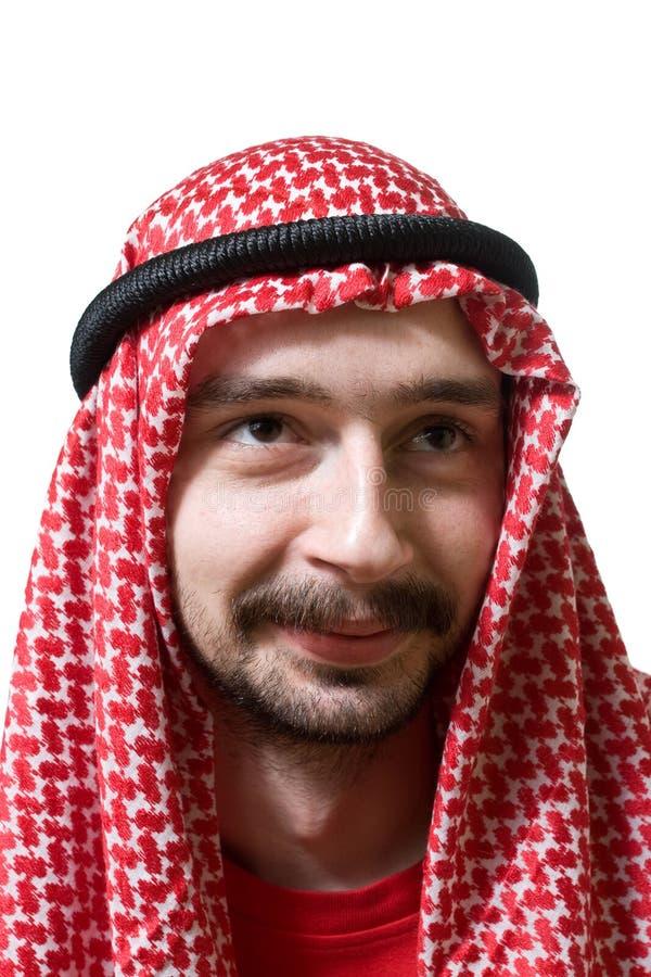Glimlachende Arabische jonge mens stock foto