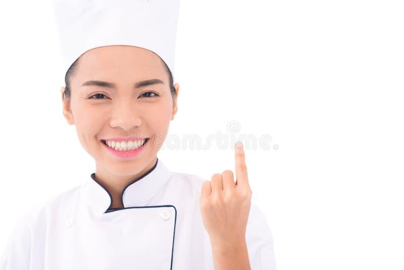 Glimlachende Aziatische bakker stock afbeeldingen