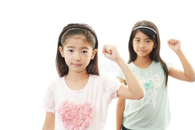 Glimlachende Aziatische meisjes royalty-vrije stock afbeelding