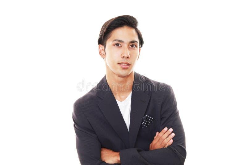 Glimlachende Aziatische mens royalty-vrije stock foto