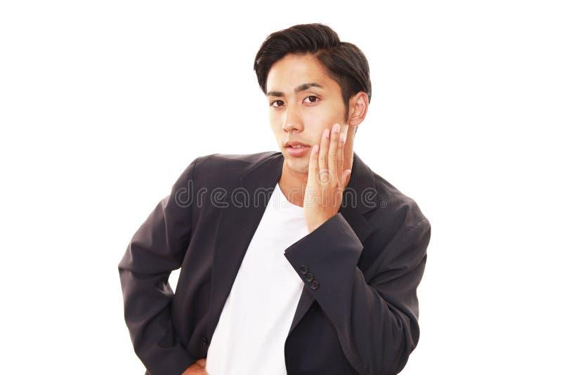 Glimlachende Aziatische mens royalty-vrije stock foto's