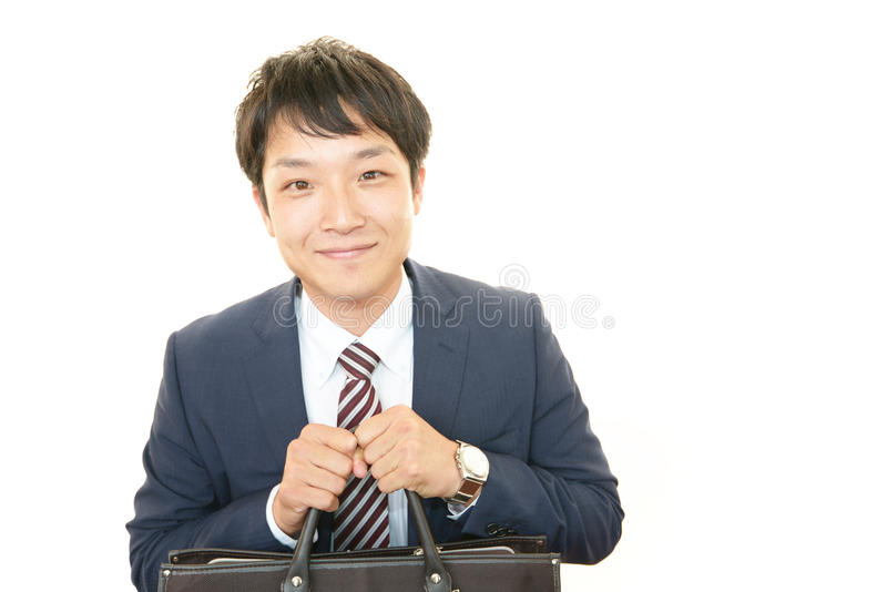 Glimlachende Aziatische zakenman royalty-vrije stock foto