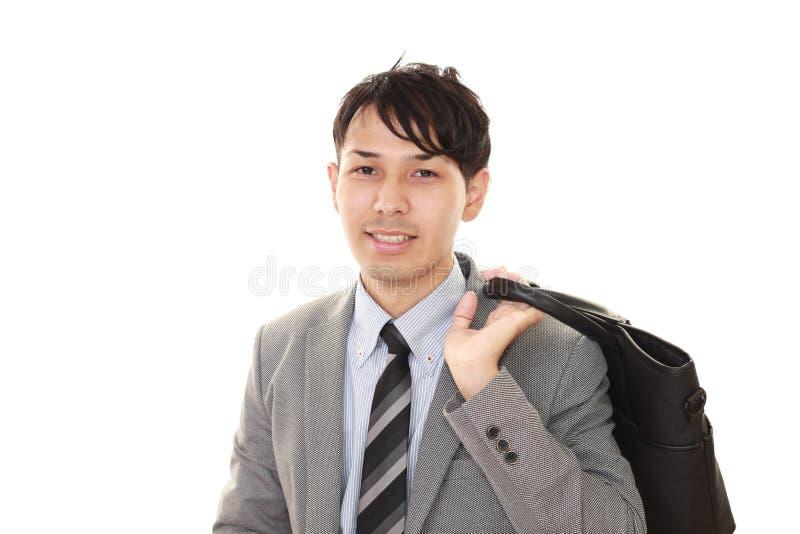 Glimlachende Aziatische zakenman royalty-vrije stock foto's