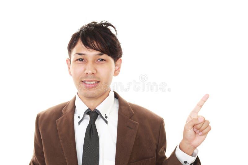 Glimlachende Aziatische zakenman royalty-vrije stock afbeelding