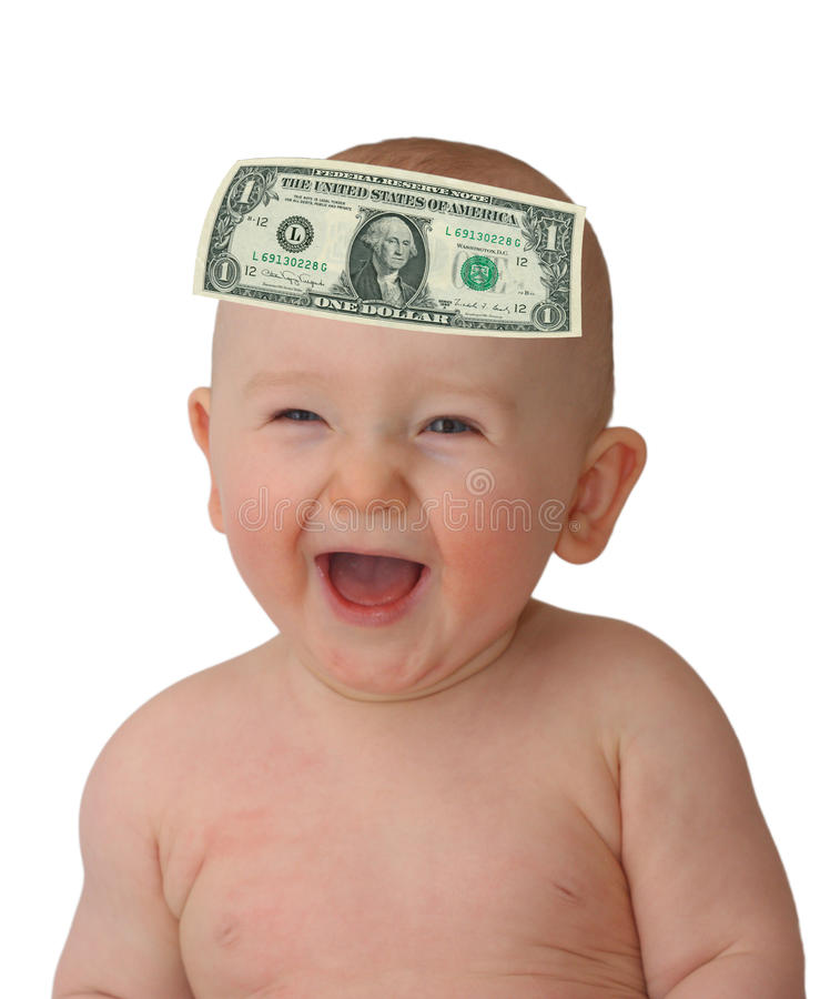 De baby van de dollar royalty-vrije stock foto