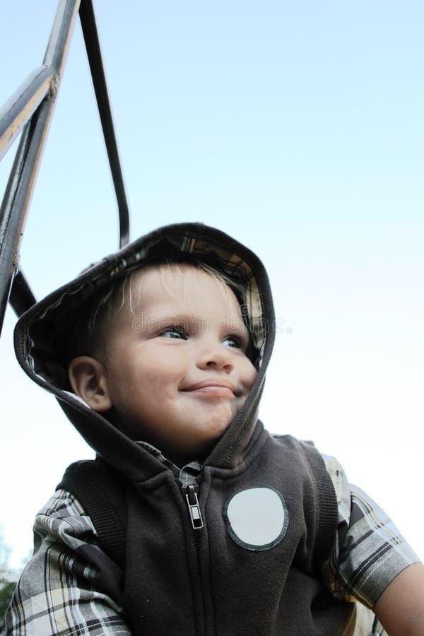 Glimlachende babyjongen royalty-vrije stock foto