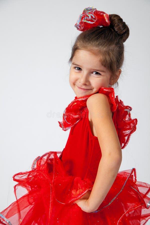 Glimlachende Ballerina Drie - kwarten royalty-vrije stock foto's