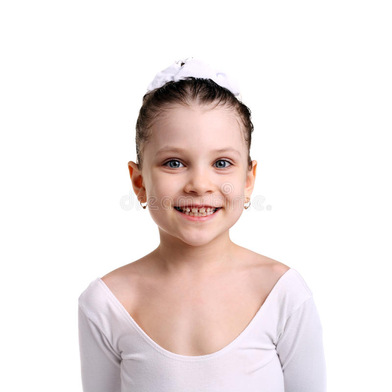 Glimlachende balletdanser royalty-vrije stock afbeelding