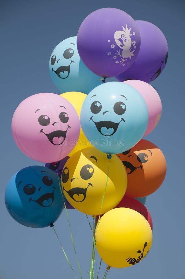 Glimlachende ballons stock fotografie