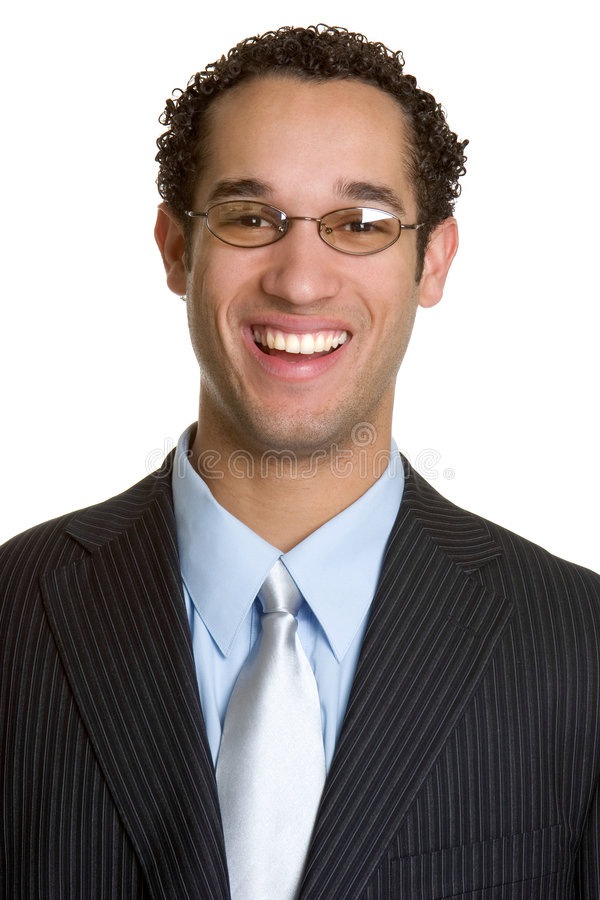 Glimlachende BedrijfsMens stock foto