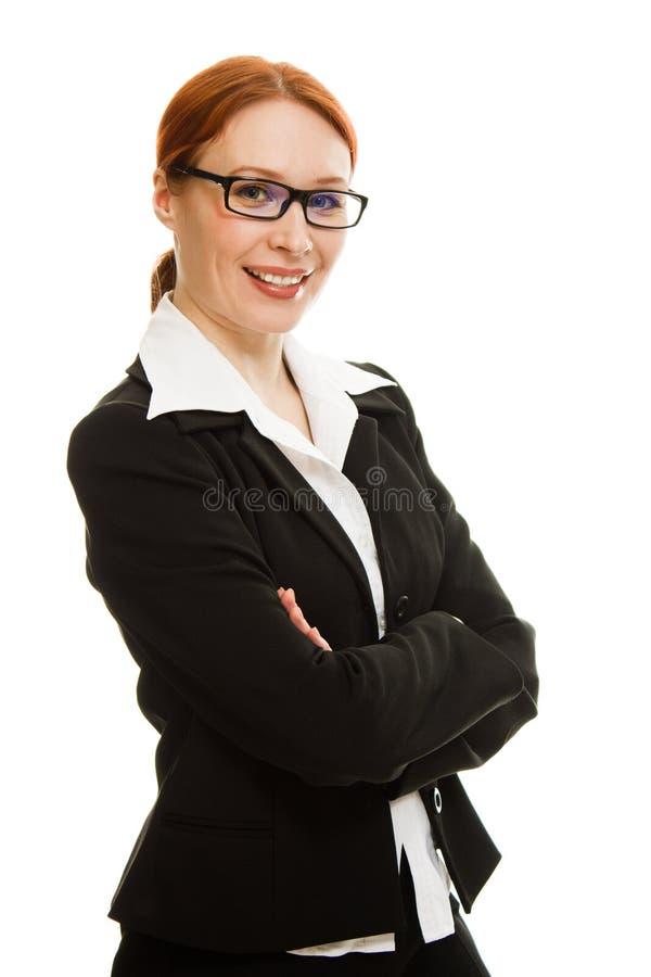 Glimlachende bedrijfsvrouw stock foto