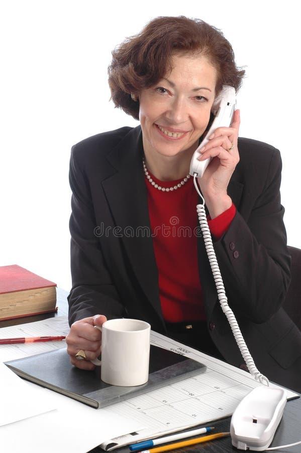 Glimlachende bedrijfsvrouw 700 royalty-vrije stock foto's