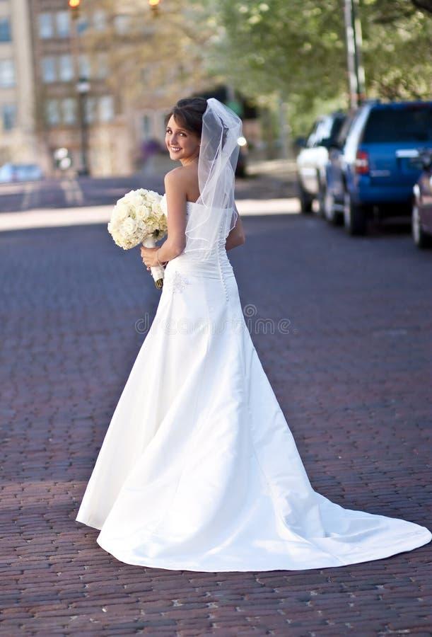 Glimlachende Bruid royalty-vrije stock foto's