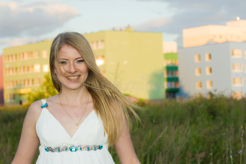 Glimlachende bruid stock afbeelding