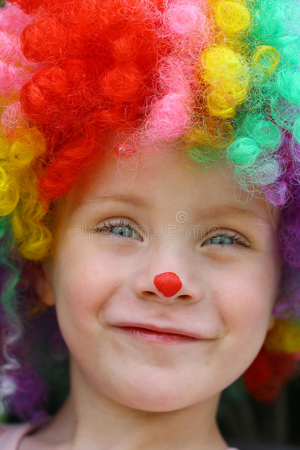 Glimlachende Clown Child stock foto