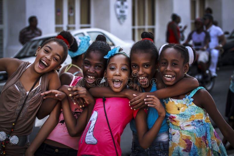 Glimlachende Cubaanse Kinderen royalty-vrije stock foto's
