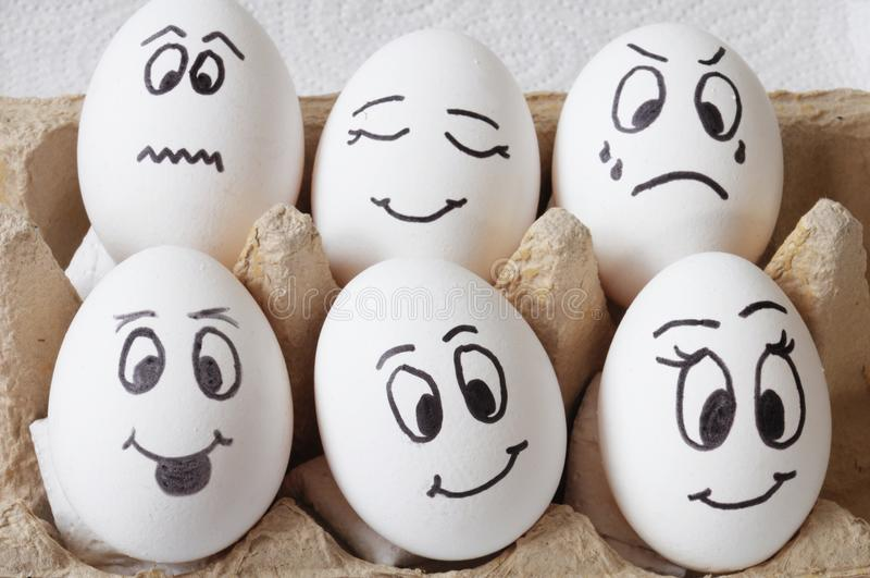 Glimlachende eieren royalty-vrije stock afbeelding