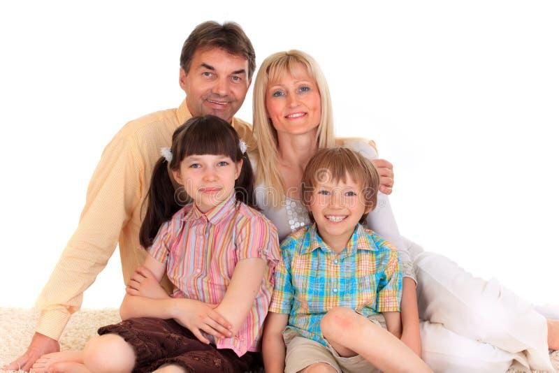 Glimlachende Familie royalty-vrije stock foto