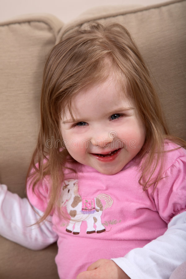 Glimlachende gehandicapte peuter royalty-vrije stock foto's