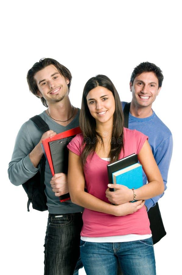 Glimlachende gelukkige studenten stock foto