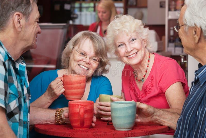 Glimlachende Hogere Dames stock foto