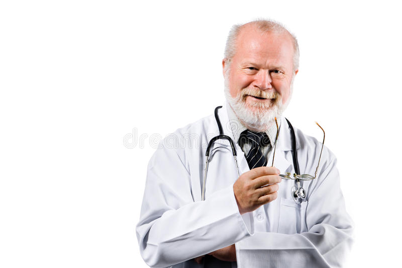 Glimlachende hogere medische arts royalty-vrije stock foto's