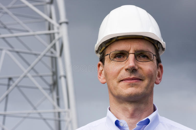 Glimlachende ingenieur