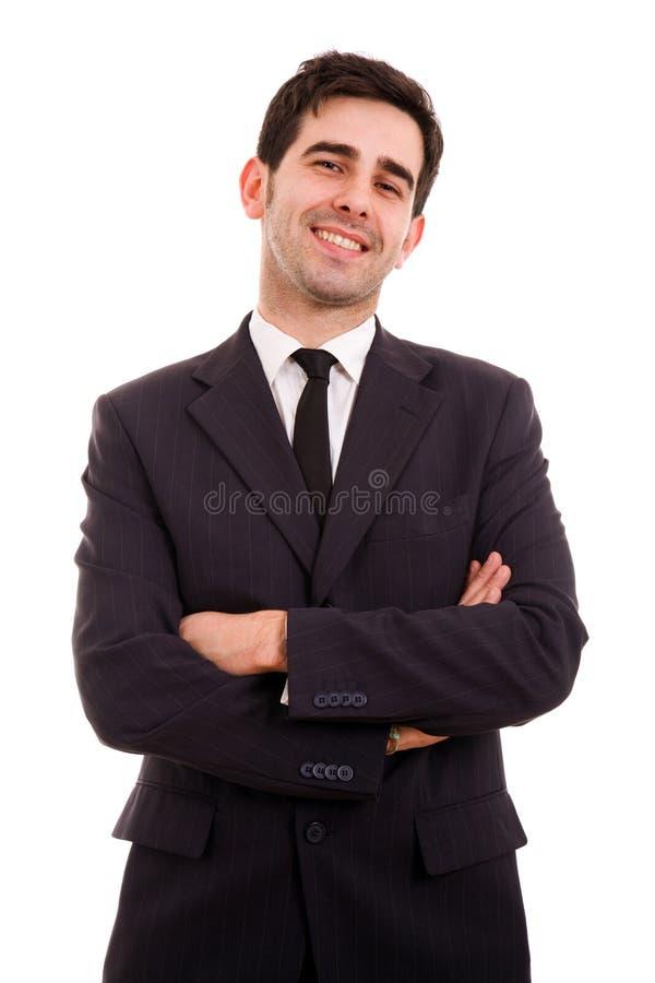 Glimlachende jonge bedrijfsmens royalty-vrije stock foto's