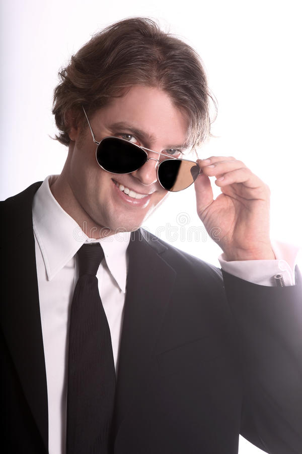 Glimlachende Jonge BedrijfsMens stock fotografie