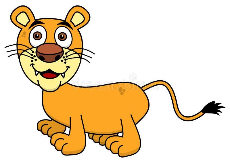 Glimlachende jonge leeuw vector illustratie