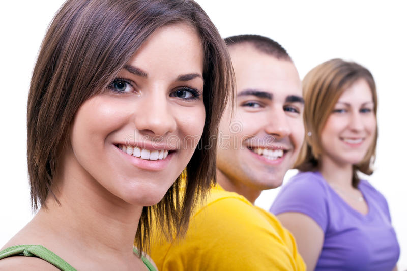Glimlachende jonge mensen royalty-vrije stock foto