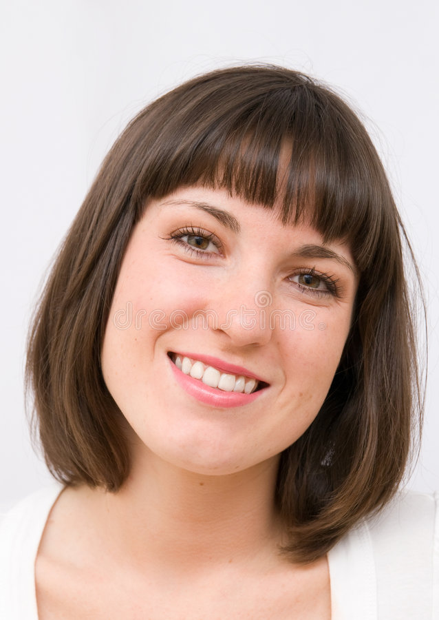 Glimlachende jonge vrouwen royalty-vrije stock foto