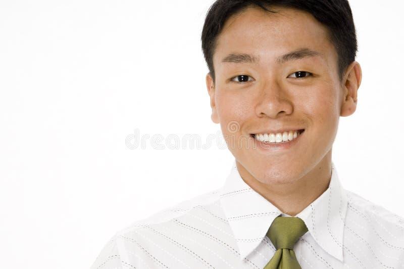 Glimlachende Jonge Zakenman royalty-vrije stock foto