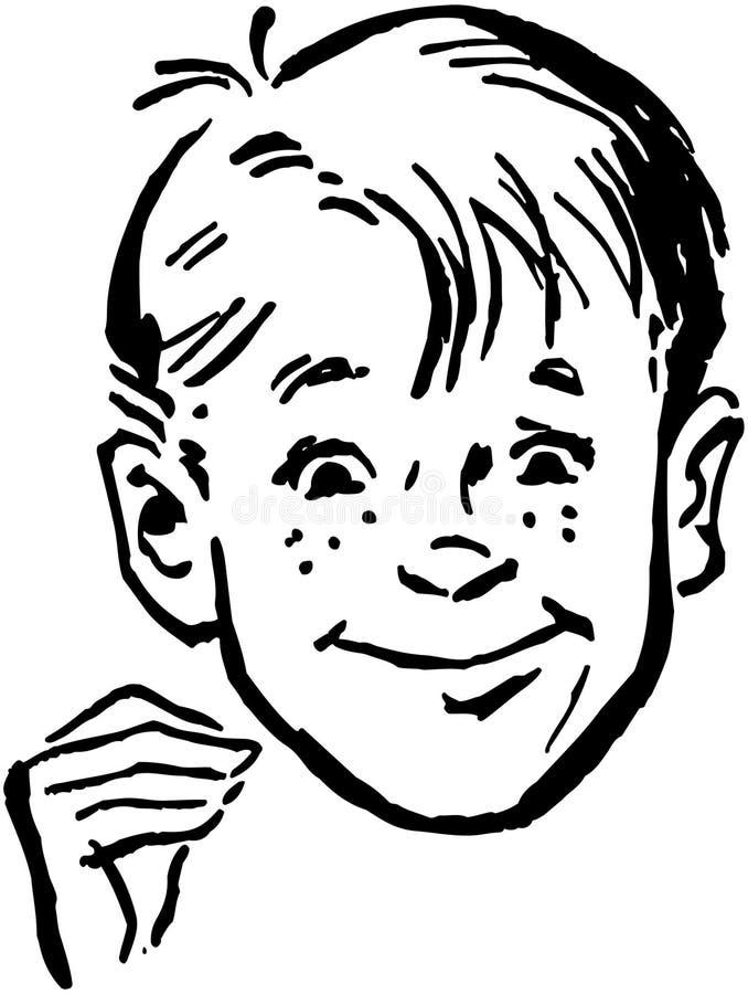 Glimlachende jongen royalty-vrije illustratie