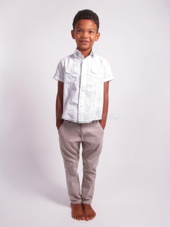 Glimlachende jongen stock foto