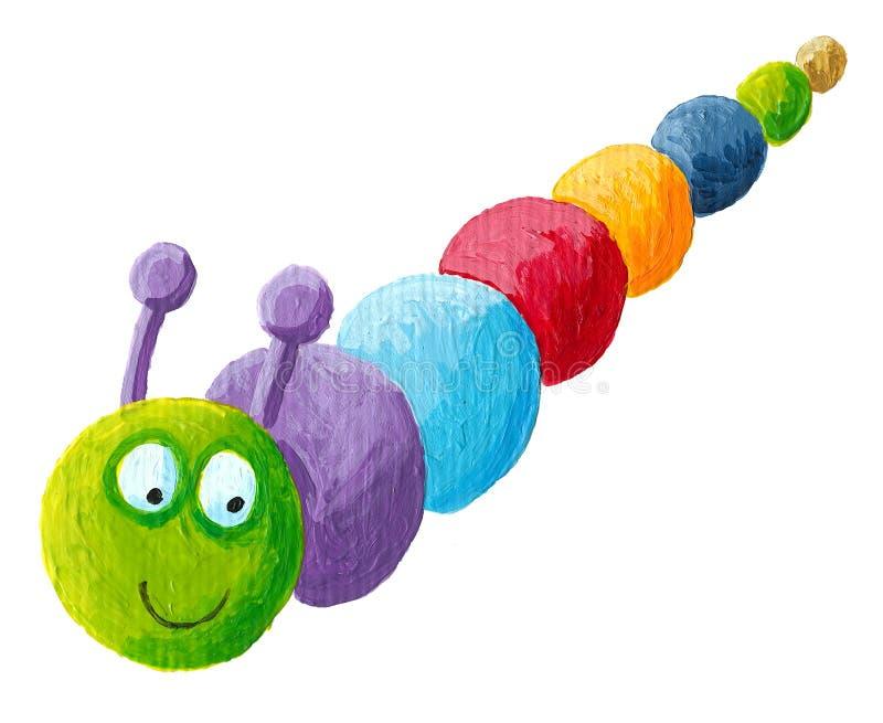 Glimlachende kleurrijke rupsband royalty-vrije illustratie