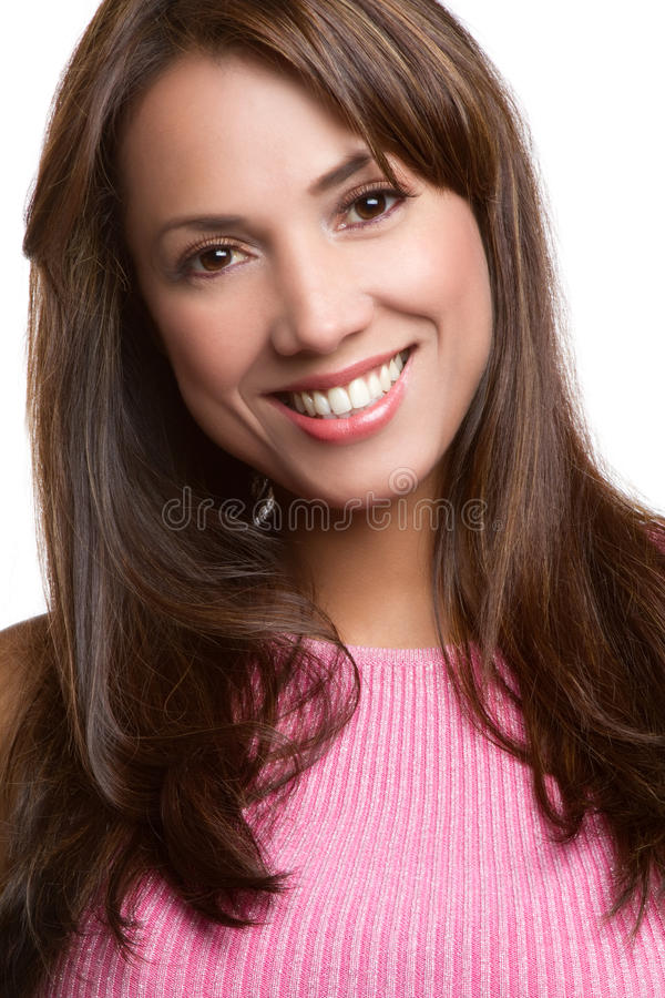 Glimlachende Latijnse Vrouw stock foto's