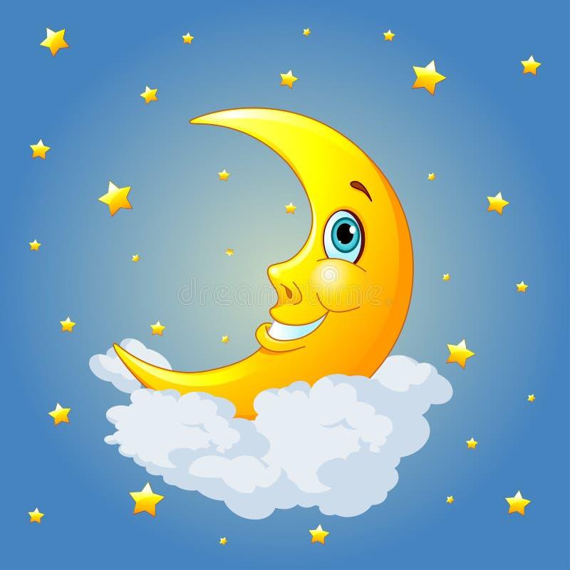 Glimlachende maan royalty-vrije illustratie