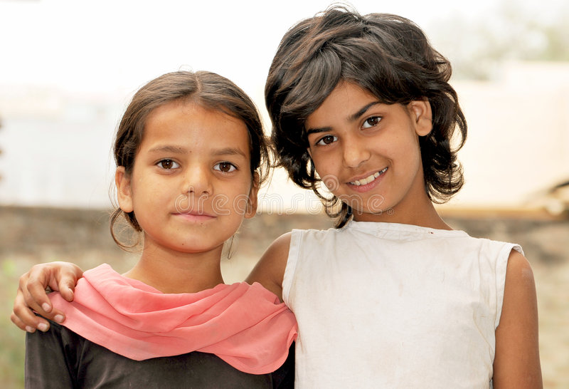 Glimlachende meisjes royalty-vrije stock foto's