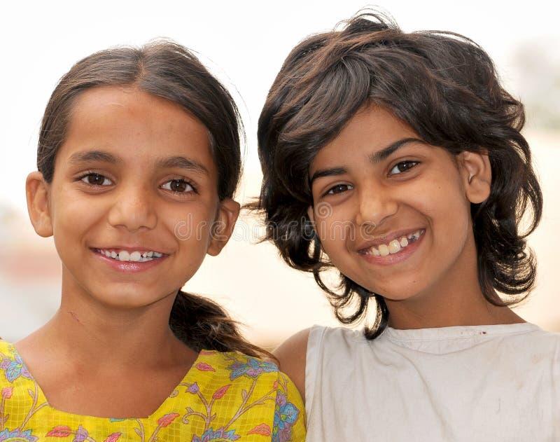 Glimlachende meisjes stock fotografie