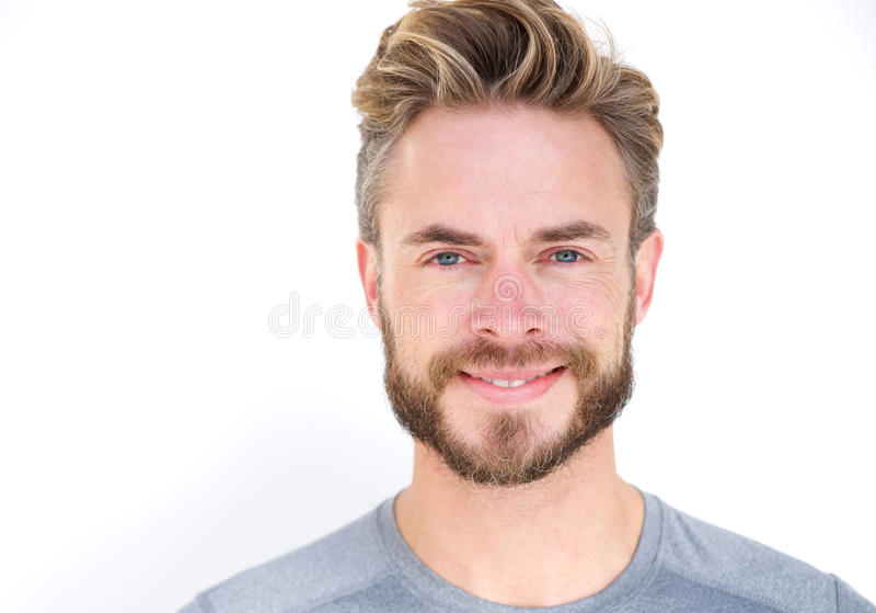 Glimlachende mens met baard royalty-vrije stock fotografie