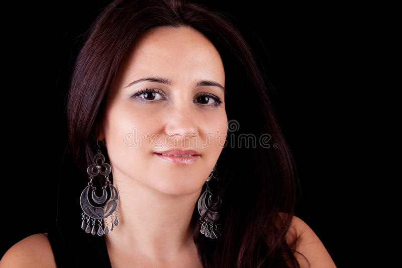 Glimlachende midden-leeftijdsvrouw royalty-vrije stock afbeeldingen