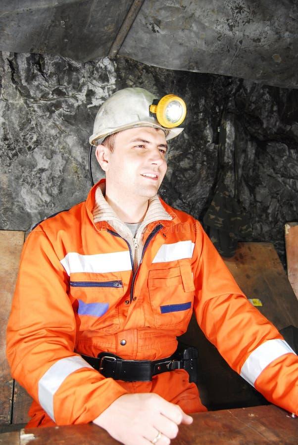 Glimlachende mijnwerker royalty-vrije stock foto's