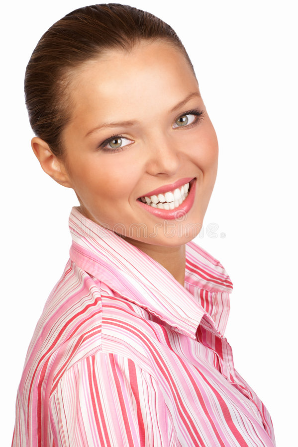 Glimlachende onderneemster stock fotografie